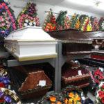 Гробы деревянные, лакированные, тканевые
