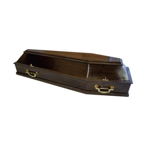 """Гроб лакированный мод. 107 """"Скрипка"""""""