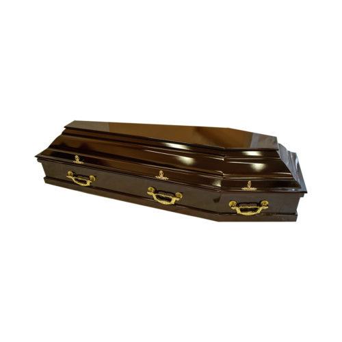 """Гроб лакированный мод. 75 """"Скрипка"""""""